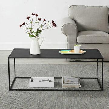 en.casa Couchtisch Schwarz Metall Tisch Beistelltisch Wohnzimmertisch Sofatisch