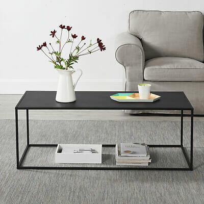 en.casa Couchtisch Schwarz Metall Tisch Beistelltisch