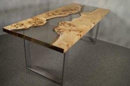 Esstisch Holztisch Lake Epoxidharz Designertisch Esszimmertisch Wohnzimmertisch