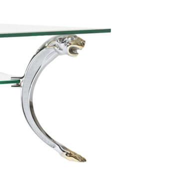 EVE collection Panther Couchtisch Sofatisch Tisch Glas Messing bicolor