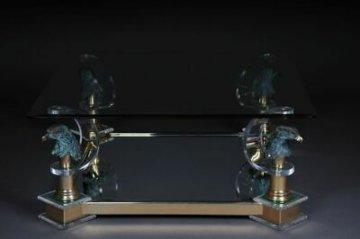 Exklusiver Designer Couchtisch Glas/Acryl Maison Charles A-156