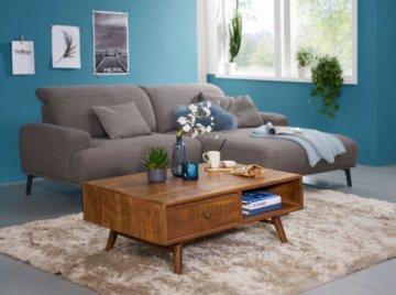 FineBuy Couchtisch 120x70x42 cm Wohnzimmertisch  Mango Holztisch Massiv