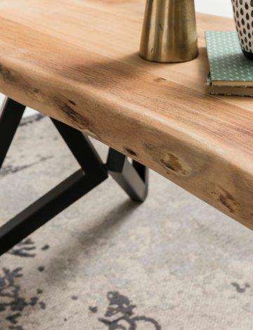 FineBuy Couchtisch FB51416 Wohnzimmertisch Holz massiv Sofatisch Kaffeetisch
