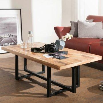 FineBuy Couchtisch KENAM Wohnzimmertisch Holz Massiv Sofatisch Tisch Wohnzimmer