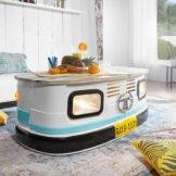 FineBuy Couchtisch PINTU Sofatisch Truck Tisch LKW Wohnzimmertisch Metall Bunt