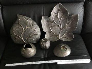 Formano Deko Set, Anthrazit, Schale, Vase, Kerzenhalter, Top Zustand