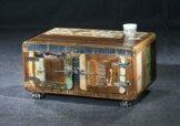 Sit Möbel Fridge Couchtischtruhe Altholz lackiert B 90 x T 90 x H 40 cm bunt 4 T