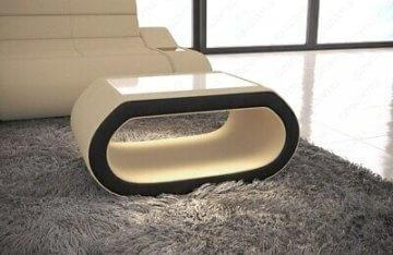 Sofatisch Couchtisch Design CONCEPT Wohnzimmertisch Stoff Tisch Modern Luxus LED