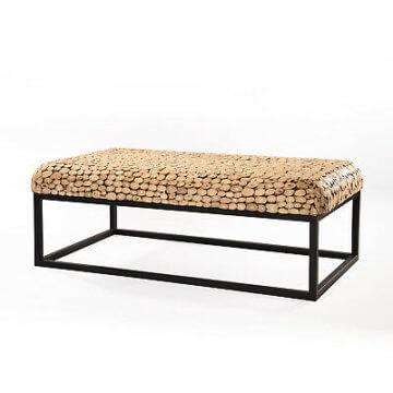 Teakholz Tisch Focus Natur Couchtisch Wohnzimmertisch Holz Holztisch Massivholz