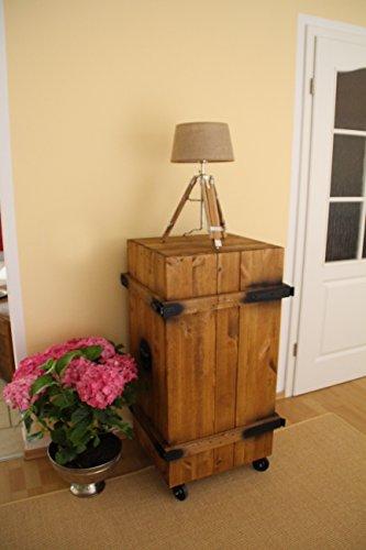 Uncle Joe´s Barschrank Vintage Shabby chic Landhaus Massivholz nussbaum - 2