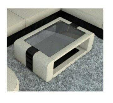 Wohnzimmertisch Couchtisch Design BELLAGIO Stoff Beistelltisch modern Sofatisch