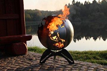 BlazeBall Feuerkugel Weltkugel 60 cm Feuerschale mit Ständer Feuerkorb Brennstelle - 2
