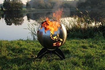 BlazeBall Feuerkugel Weltkugel 60 cm Feuerschale mit Ständer Feuerkorb Brennstelle - 3