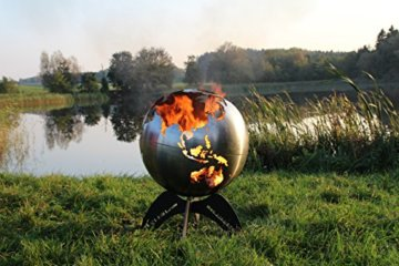 BlazeBall Feuerkugel Weltkugel 60 cm Feuerschale mit Ständer Feuerkorb Brennstelle - 4