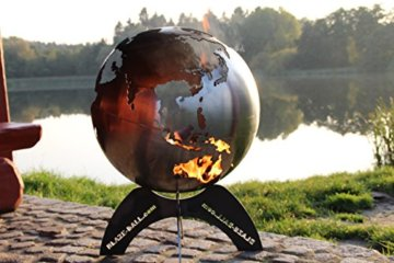 BlazeBall Feuerkugel Weltkugel 60 cm Feuerschale mit Ständer Feuerkorb Brennstelle - 5
