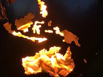BlazeBall Feuerkugel Weltkugel 60 cm Feuerschale mit Ständer Feuerkorb Brennstelle - 6
