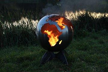 BlazeBall Feuerkugel Weltkugel 60 cm Feuerschale mit Ständer Feuerkorb Brennstelle - 7