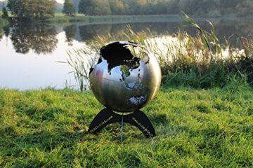 BlazeBall Feuerkugel Weltkugel 60 cm Feuerschale mit Ständer Feuerkorb Brennstelle - 8