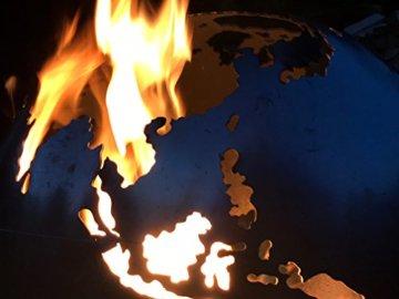 BlazeBall Feuerkugel Weltkugel 60 cm Feuerschale mit Ständer Feuerkorb Brennstelle - 9