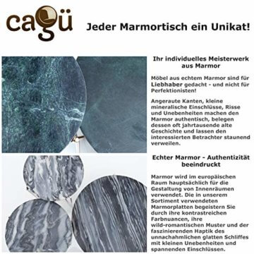 cagü: Design Couchtisch [FLORENTIN] Grün aus Marmor mit Gold Gestell 62cm Durchmesser - 9
