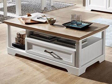 Couchtisch Wohnzimmertisch Beistelltisch Sofatisch Kaffeetisch Tisch Jillana I Pinie hell/Artisan Eiche - 1