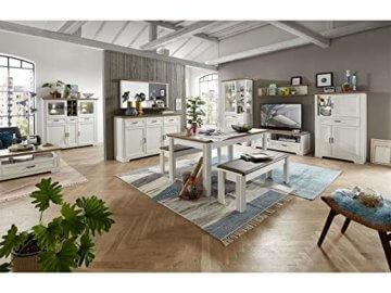 Couchtisch Wohnzimmertisch Beistelltisch Sofatisch Kaffeetisch Tisch Jillana I Pinie hell/Artisan Eiche - 6