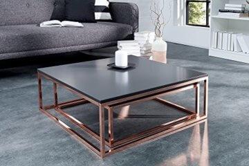 DuNord Design Couchtisch Beistelltisch 2er STAGE anthrazit matt Kupfer Design Tisch Set - 4