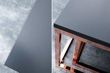 DuNord Design Couchtisch Beistelltisch 2er STAGE anthrazit matt Kupfer Design Tisch Set - 6