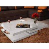 Hochglanz Couchtisch 3 Ebenen Sofatisch Kaffeetisch Wohnzimmer Holztisch Tisch