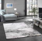 Merinos Marmorteppich mit Glanzfasern in Grau Größe 120x170 cm - 1