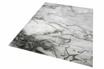 Merinos Marmorteppich mit Glanzfasern in Grau Größe 120x170 cm - 2