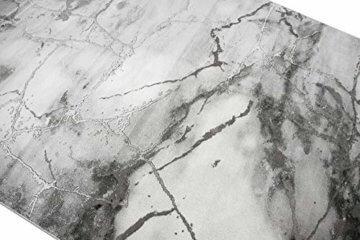 Merinos Marmorteppich mit Glanzfasern in Grau Größe 120x170 cm - 3