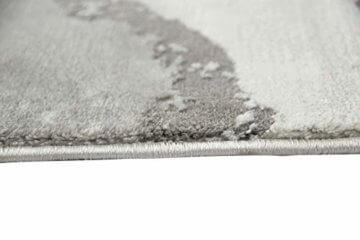 Merinos Marmorteppich mit Glanzfasern in Grau Größe 120x170 cm - 5