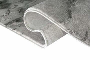 Merinos Marmorteppich mit Glanzfasern in Grau Größe 120x170 cm - 6