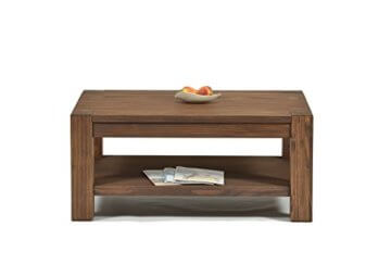 Naturholzmöbel Seidel Couchtisch Beistelltisch mit Ablage,Rio Bonito, 100x70cm, Höhe 55 cm, Pinie Massivholz, geölt und gewachst, Wohnzimmer Tisch Farbton Cognac braun - 2