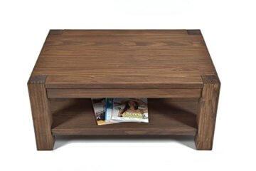 Naturholzmöbel Seidel Couchtisch Beistelltisch mit Ablage,Rio Bonito, 100x70cm, Höhe 55 cm, Pinie Massivholz, geölt und gewachst, Wohnzimmer Tisch Farbton Cognac braun - 3