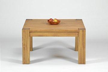 Naturholzmöbel Seidel Couchtisch,Rio Bonito, 80x80cm Höhe 50 cm, Pinie Massivholz, geölt und gewachst, Wohnzimmer Tisch Farbton Honig hell - 3