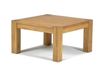 Naturholzmöbel Seidel Couchtisch,Rio Bonito, 80x80cm Höhe 50 cm, Pinie Massivholz, geölt und gewachst, Wohnzimmer Tisch Farbton Honig hell - 1