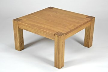 Naturholzmöbel Seidel Couchtisch,Rio Bonito, 80x80cm Höhe 50 cm, Pinie Massivholz, geölt und gewachst, Wohnzimmer Tisch Farbton Honig hell - 5