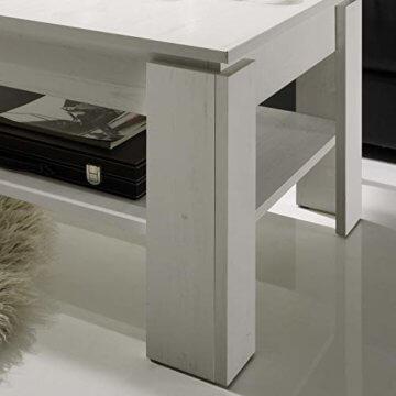 trendteam smart living Wohnzimmer Couchtisch Wohnzimmertisch Universal, 110 x 47 x 65 cm in Pinie Weiß Struktur Nachbildung mit zusätzlicher Ablagefläche - 4