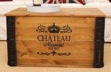 Uncle Joe´s Truhe Chateau Couchtisch Truhentisch im Vintage Shabby chic Style aus Massiv-Holz in braun mit Stauraum und Deckel Holzkiste Beistelltisch Landhaus Wohnzimmertisch Holztisch nussbaum - 1