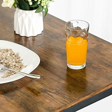 VASAGLE Bartisch-Set, Stehtisch mit 2 Barhockern, Küchentresen mit Barstühlen, Küchentisch und Küchenstühle im Industrie-Design, für Küche, 120 x 60 x 90 cm, Vintage, dunkelbraun LBT15X - 8
