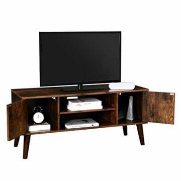 VASAGLE Retro Lowboard, TV-Regal, Fernsehtisch, Fernsehschrank im 50/60er Jahre Look, Retro-Möbel für Ihren Flachbildschirm, Spielekonsolen, Wohnzimmer, Büro, Holzoptik LTV08BX - 4