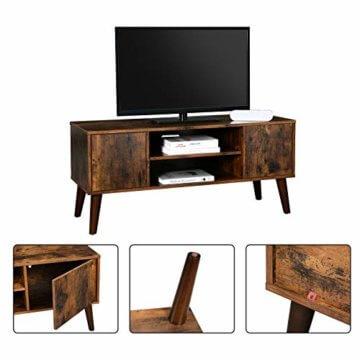 VASAGLE Retro Lowboard, TV-Regal, Fernsehtisch, Fernsehschrank im 50/60er Jahre Look, Retro-Möbel für Ihren Flachbildschirm, Spielekonsolen, Wohnzimmer, Büro, Holzoptik LTV08BX - 5