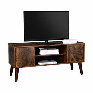 VASAGLE Retro Lowboard, TV-Regal, Fernsehtisch, Fernsehschrank im 50/60er Jahre Look, Retro-Möbel für Ihren Flachbildschirm, Spielekonsolen, Wohnzimmer, Büro, Holzoptik LTV08BX - 9
