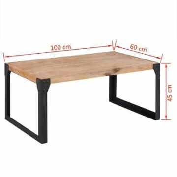 vidaXL Akazie Massiv Wohnzimmermöbel Set TV Tisch Konsolentisch Couchtisch