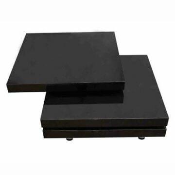 vidaXL Couchtisch Wohnzimmertisch Beistelltisch Tisch 3 Ebenen Hochglanz Schwarz